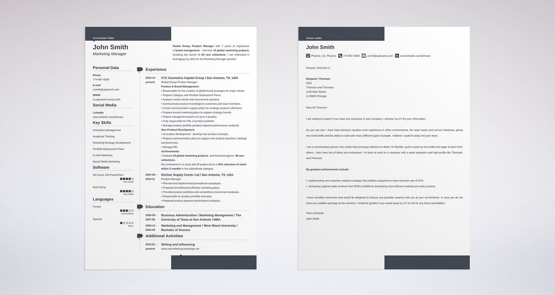 cover letter and resume templates