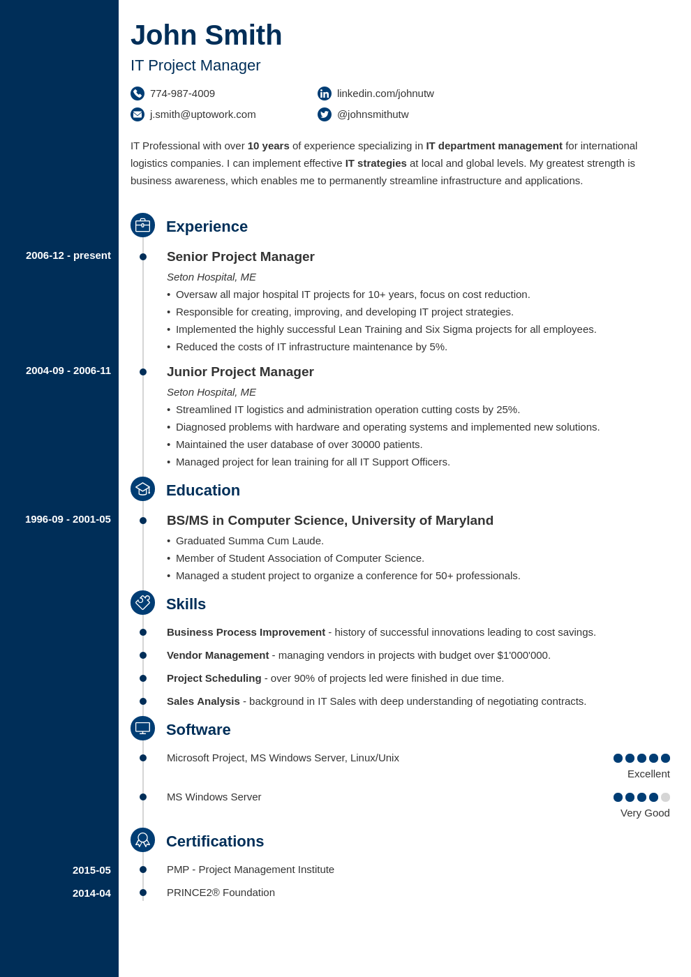 Professional CV Template Concept