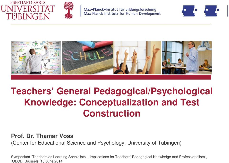 Thamar Voss (Center for Educational Science and Psychology, University of